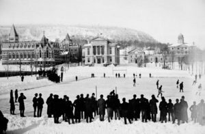 ice hockey match late 1800s
