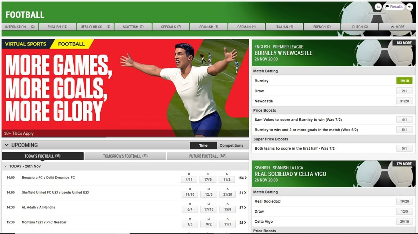 Ladbrokes Markets and Odds