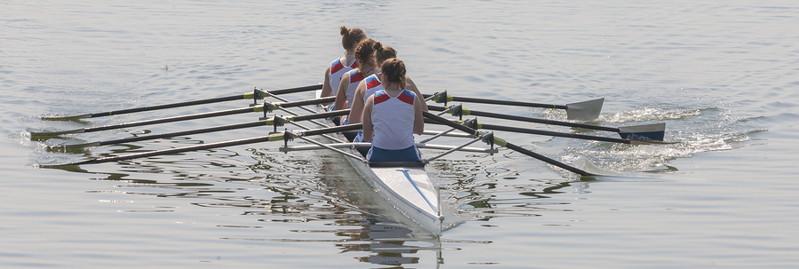 ladies four rowing boat