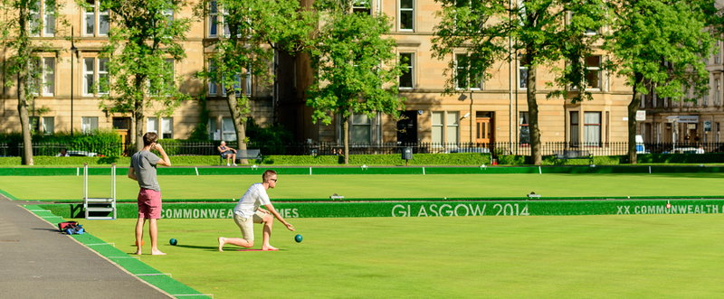 lawn bowls at commonweatlth games venue in glasgow