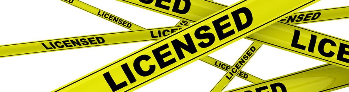 licensed warning tape