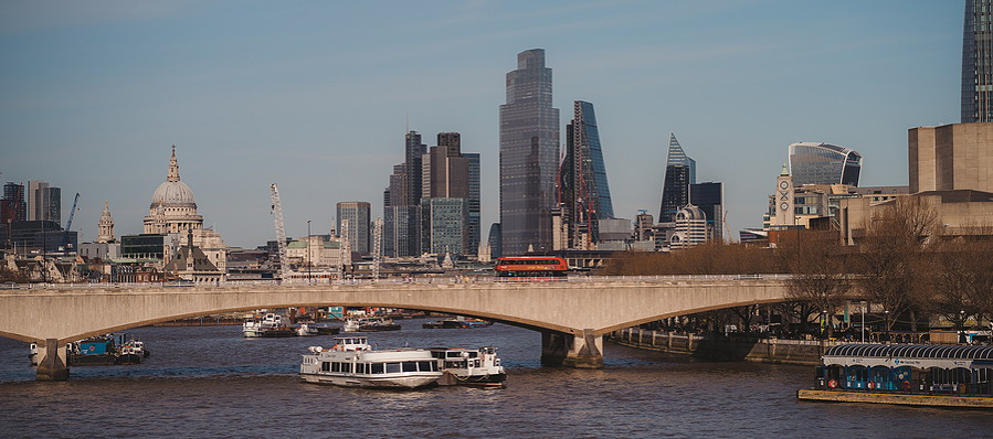 london city scape on a sunny day