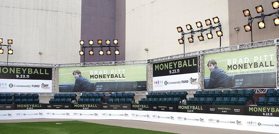 moneyball advert at baseball ground