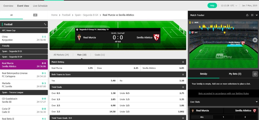 MoPlay Live Betting