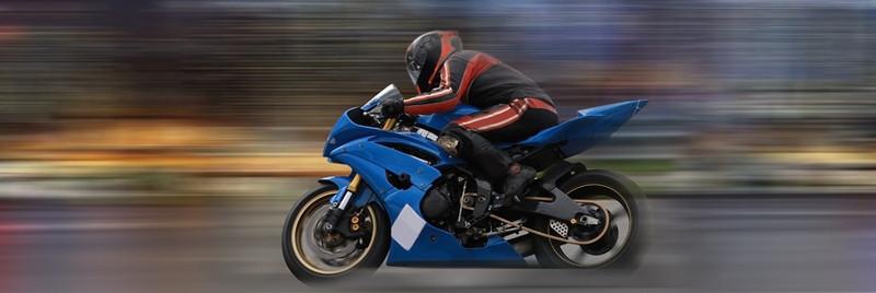 motorbike at speed