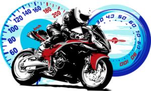 motorbike racing spee graphic