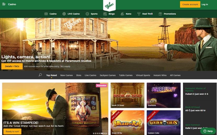 mr green casino home page