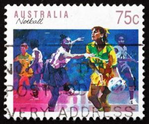 netball australia stamp