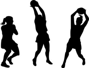 netball silhouettes