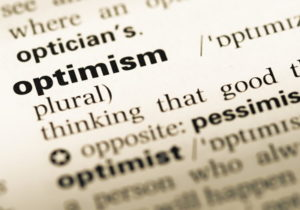 optimism word defined dictionary close up