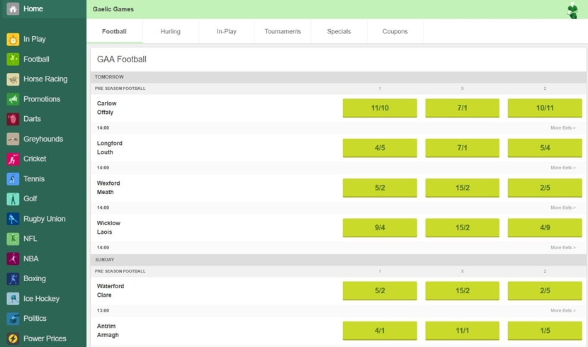 Paddy Power Markets and Odds