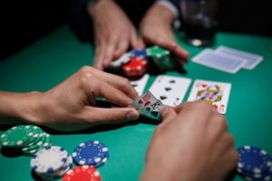 player goes all in in poker