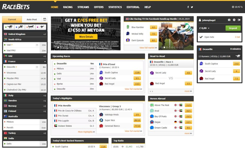 RaceBets screenshot