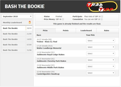 Racebets Bash the Bookie