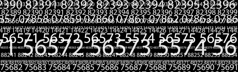 random numbers across a screen