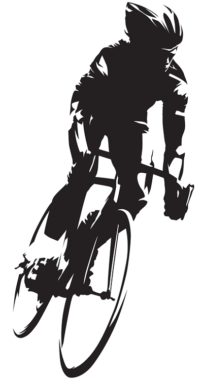road cycling silhouette
