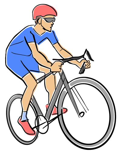 road racing clyclist cartoon