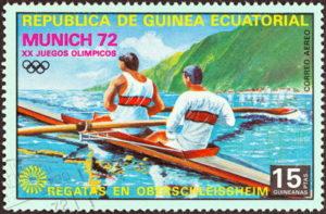 rowing stamp munich olympics 1972