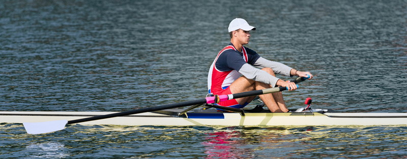 single sculling rower