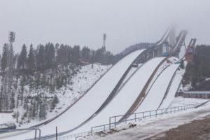 ski jump slopes