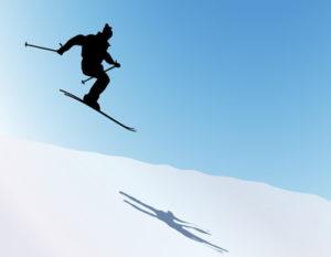 ski jumper silhouette