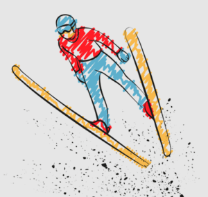 ski jumping graphic