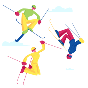 ski jumping icons