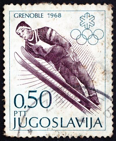 ski jumping stamp
