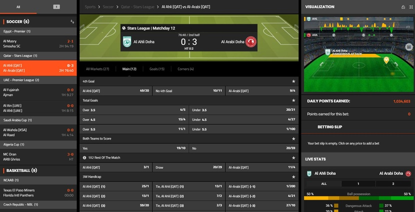 Sportnation Live Betting