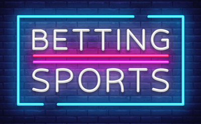 sports betting neon sign