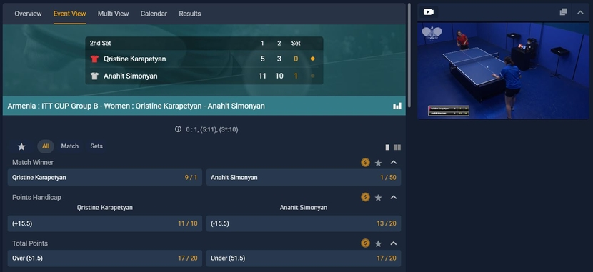 STS Live Betting