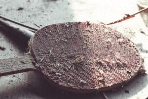 table tennis bat very old
