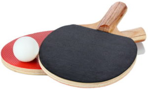 table tennis bats red and black