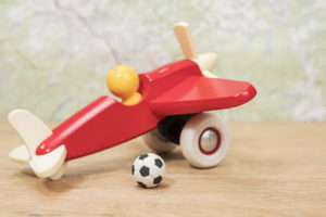 toy plane and football