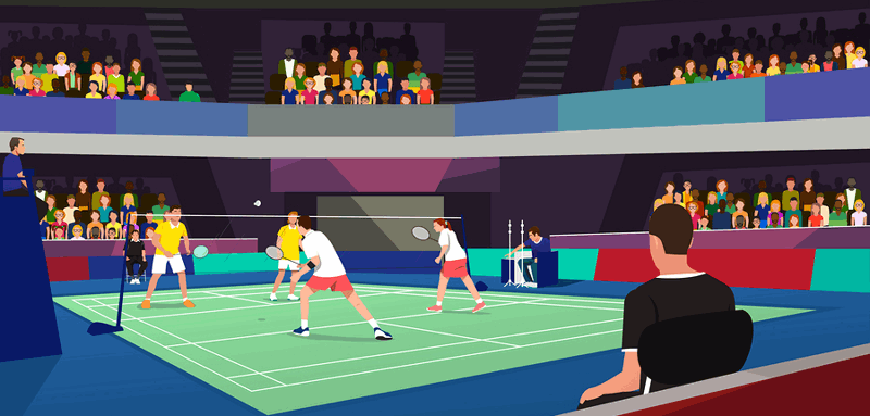 virtual badminton match