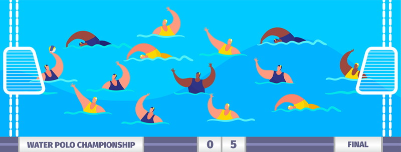 water polo match graphic