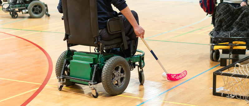 wheelchair floorball