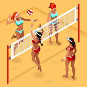 womens beach volleyball icon