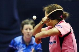 womens table tennis match